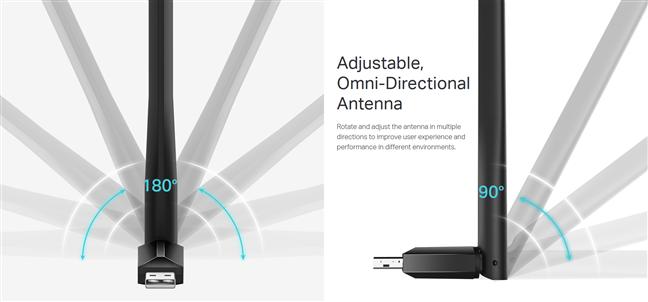 The antenna is omnidirectional
