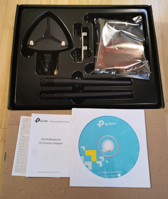 Unboxing the TP-Link Archer TX3000E network adapter