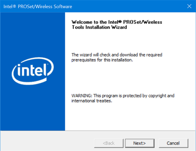 El software Intel PROSet / Wireless