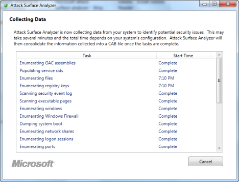 Microsoft Attack Surface Analyzer