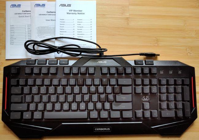 ASUS, Cerberus, keyboard
