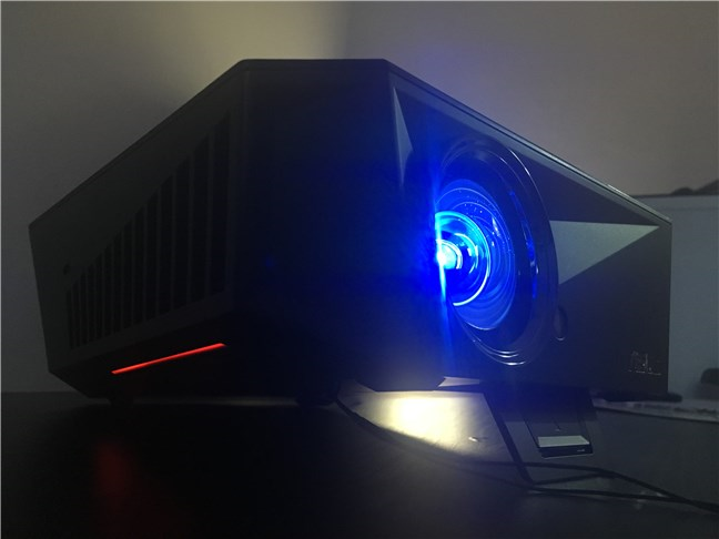 The AURA RGB lighting beneath the ASUS F1