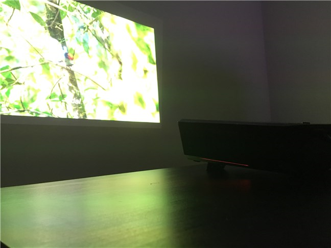 The ASUS F1 Full HD LED projector