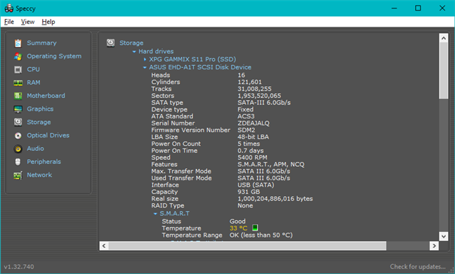 Details about the ASUS FX HDD