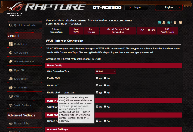 The Help documentation offered by ASUS ROG Rapture GT-AC2900