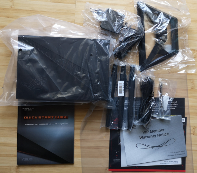 ASUS ROG Rapture GT-AC2900: what is inside the box
