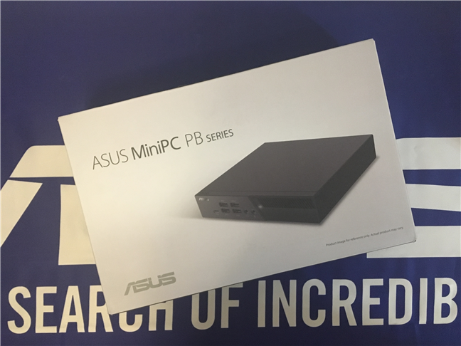 The package of the ASUS Mini PC PB60G