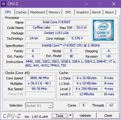The processor inside the ASUS Mini PC PB60G