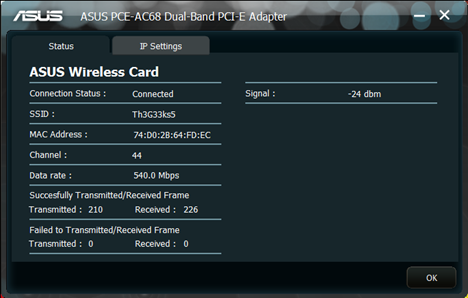 ASUS PCE-AC68, 802.11ac, Dual-band, Wireless-AC1900, PCI-E Adapter, review, networking, wireless