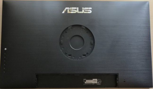 The back side of ASUS ProArt PA32UC