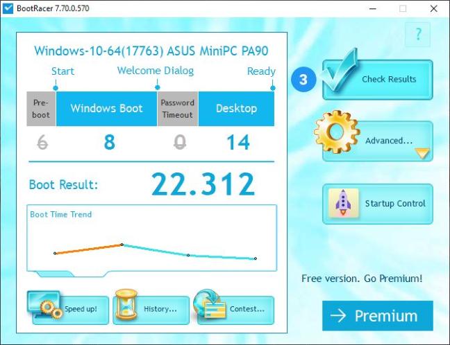 ASUS Mini PC ProArt PA90 - Bootracer score
