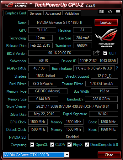 Specifications shown by GPU-Z