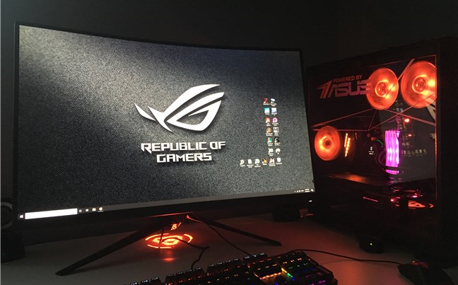 Our gaming PC, made with hardware components from ASUS, ADATA, and AMD
