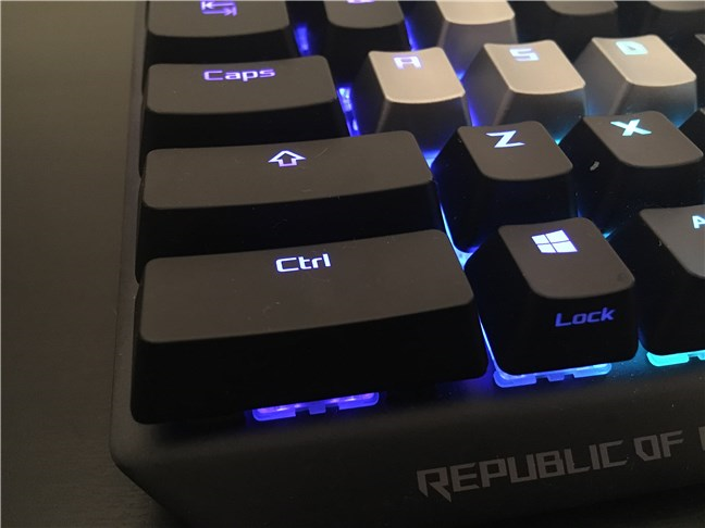 The left Control key is as large as the Shift key