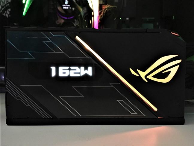 ASUS ROG Thor 850W Platinum PSU OLED screen and RGB lights