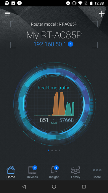 The ASUS router mobile app for ASUS RT-AC85P