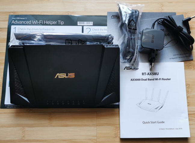 ASUS RT-AX58U - what you find inside the box