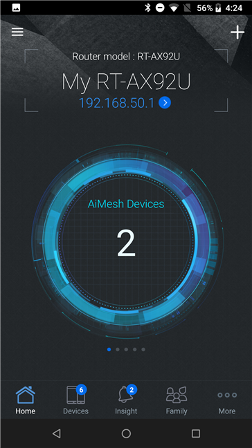 The ASUS router mobile app