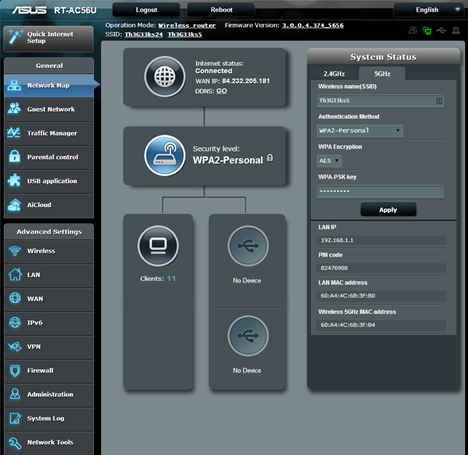 ASUS RT-AC56U, wireless, ac1200, router, 2.4GHz, review, performance, benchmarks