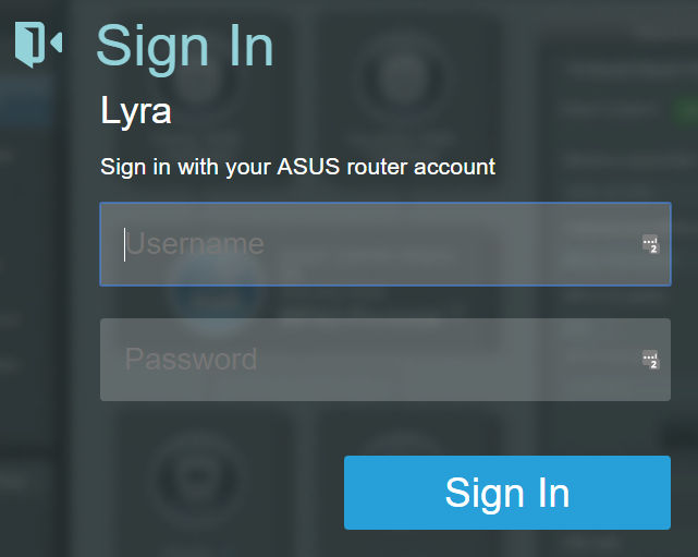 ASUS firmware - Sign into your ASUS router