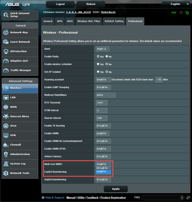 ASUS firmware - Enable MU-MIMO