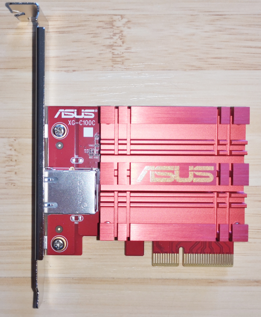 The ASUS XG-C100C PCI-Express network card