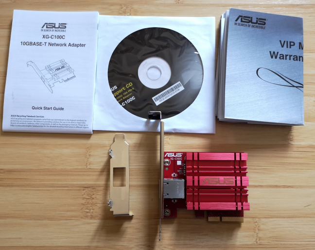 ASUS XG-C100C: What is inside the box