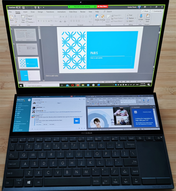 Video conferencing is a breeze on the ASUS ZenBook Duo