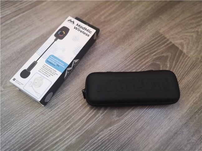 The hardshell case of the Antlion Audio ModMic Wireless
