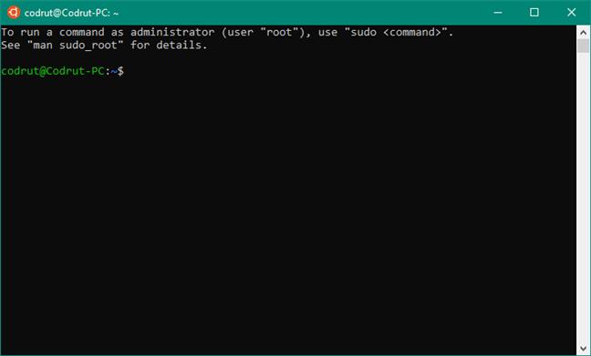El terminal de Ubuntu en Windows 10