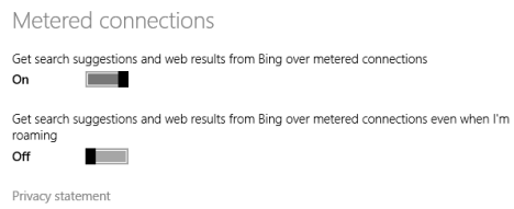 Search, charm, Windows 8.1, Bing, turn off, disable, integration