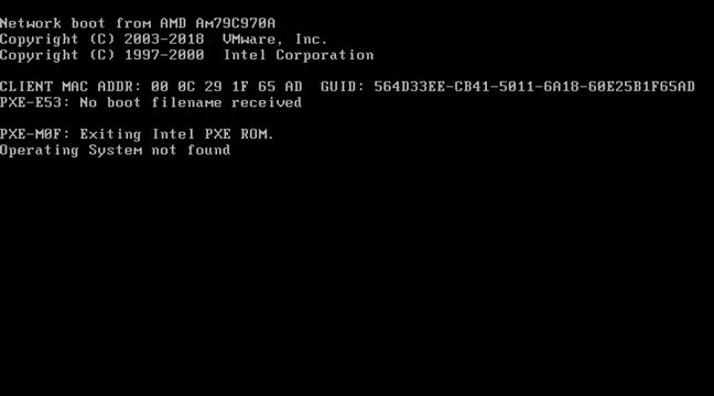 Error e información mostrada por el BIOS cuando una computadora no arranca