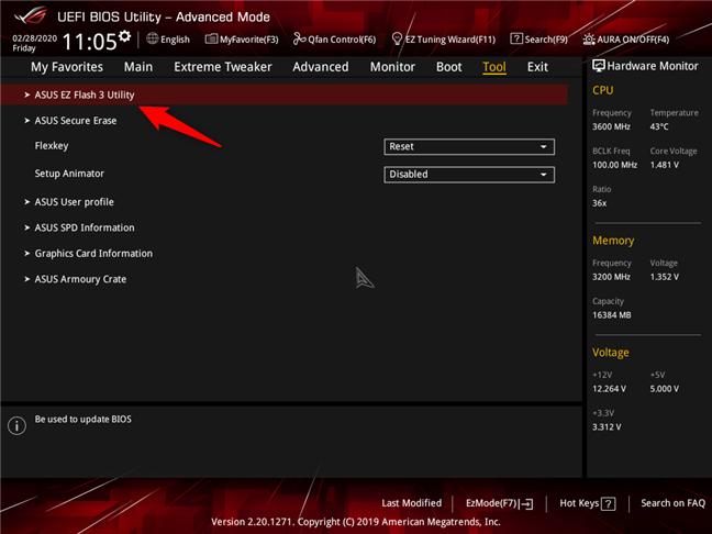 Una utilidad de BIOS que le permite actualizar el BIOS de una placa base