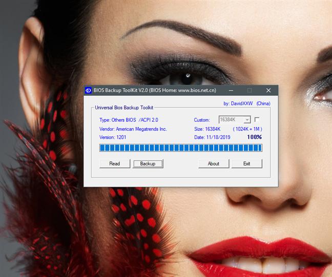 Hacer una copia de seguridad del BIOS antes de actualizar una nueva versión del BIOS