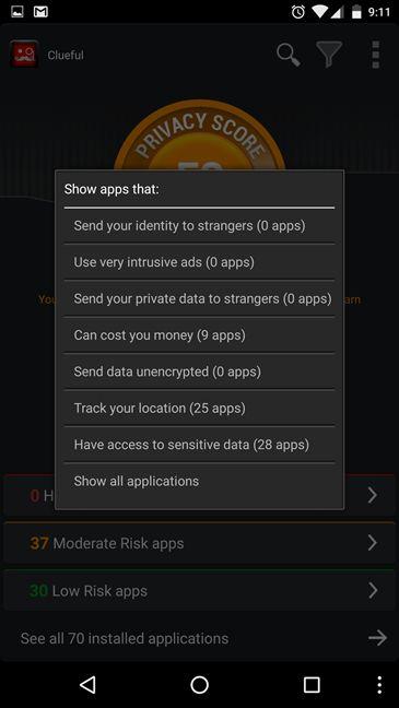 Bitdefender Clueful, Privacy Advisor, Bitdefender Mobile Security