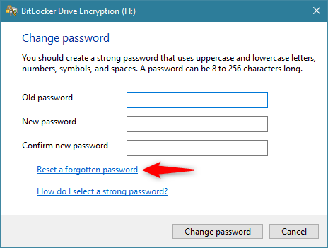 Reset a forgotten password