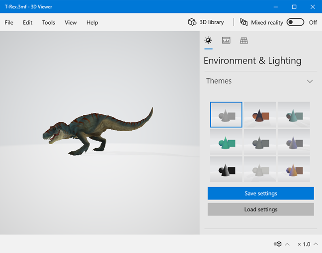 The 3D Viewer app from Windows 10