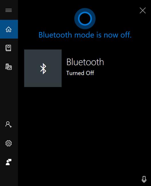 Cortana te permite saber que Bluetooth está desactivado