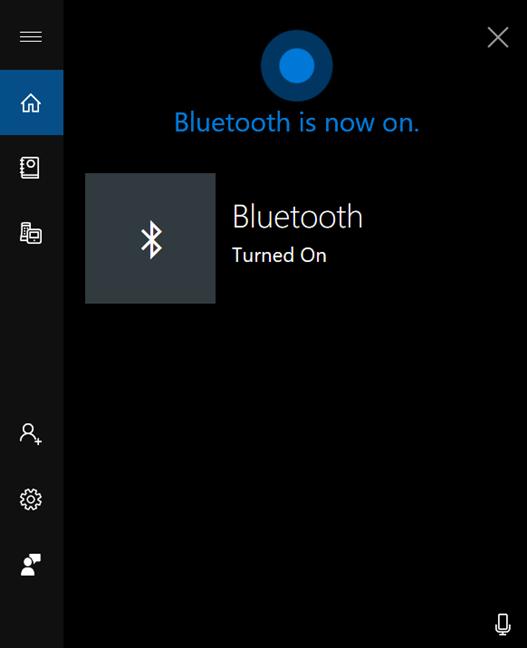 Cortana ofrece comentarios