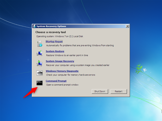Open Command Prompt while installing Windows 7