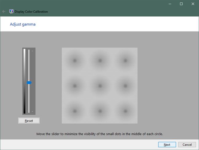 Adjust gamma in Windows 10