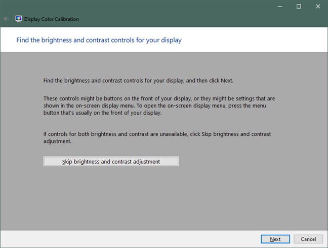 Find the brightness and contrast controls for your display