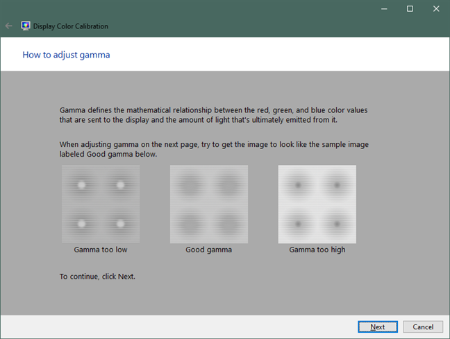 How to adjust the gamma in Windows 10