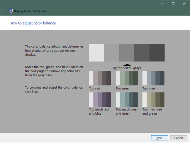 How to adjust color balance in Windows 10