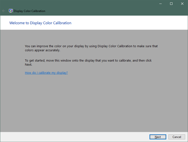 Bienvenido a Display Color Calibration