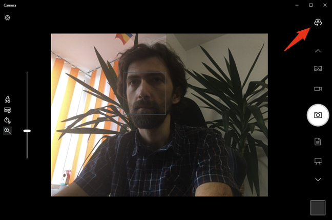 Changing the webcam used by the Camera app from Windows 10