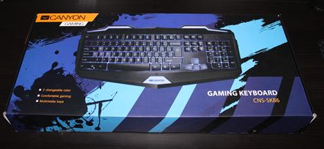 Canyon, CNS-SK86, keyboard, review, gaming