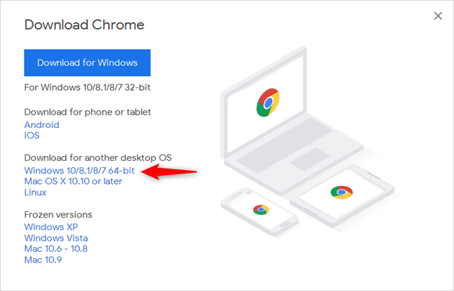 Google Chrome for 64-bit Windows