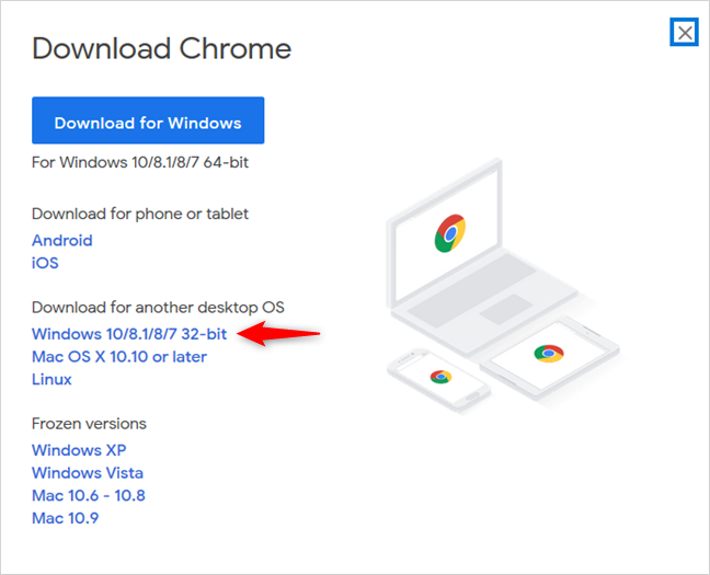 Google Chrome for 32-bit Windows