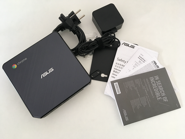 What you find inside the ASUS Chromebox 3 package